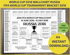 Wallchart Fifa 2018 World Cup Russia Pdf    Printable   Bracket