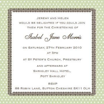 Cococards Christening Invitation Wording  Just Some Ideas