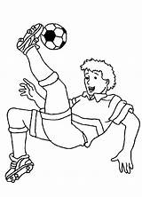 Soccer Coloring Pages Player Printable sketch template