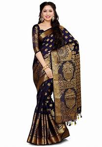 Kanchipuram Saree In Navy Blue   Snga183