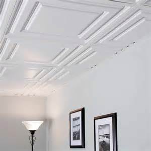 genesis ceiling tile 2x2 icon relief tile in white