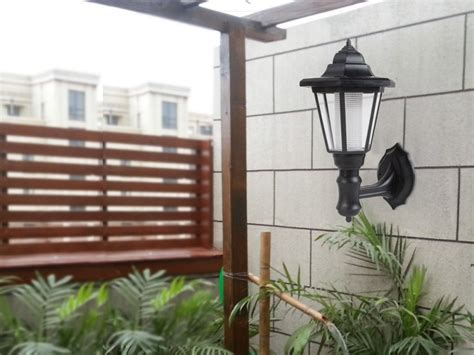 outdoor garden solar lights lantern l wall mounted
