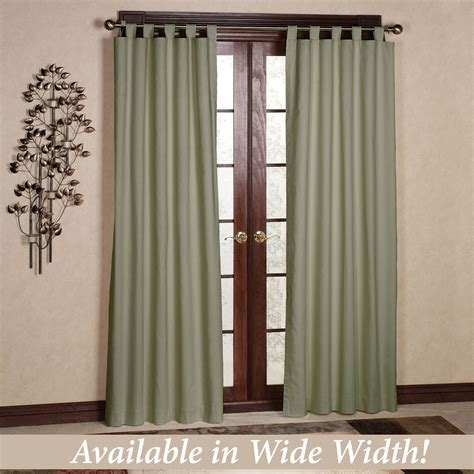 weathermate solid thermalogic tm tab top curtains - Tab Drapes
