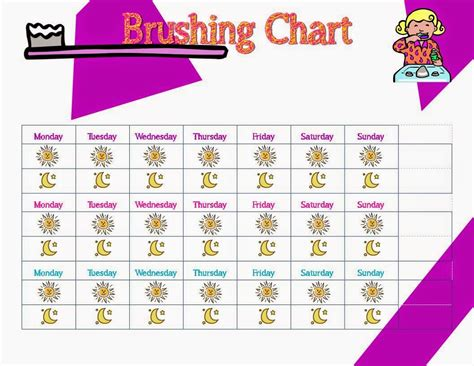 Printable Tooth Brushing Chart