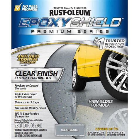 rustoleum garage floor kit home depot rust oleum epoxyshield 90 oz clear high gloss low voc