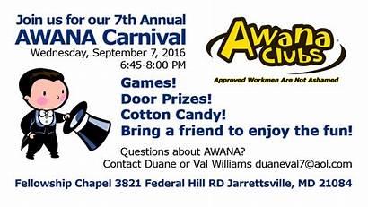 Awana Carnival Registration Fest Calendar Event Fall