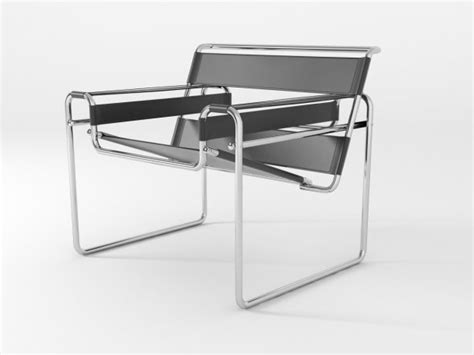 wassily chair 3d model knoll