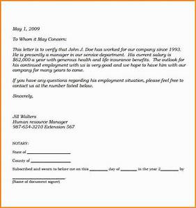 Notarized Authorization Letter Sample 9 Salary Proof Letter Simple Salary Slip
