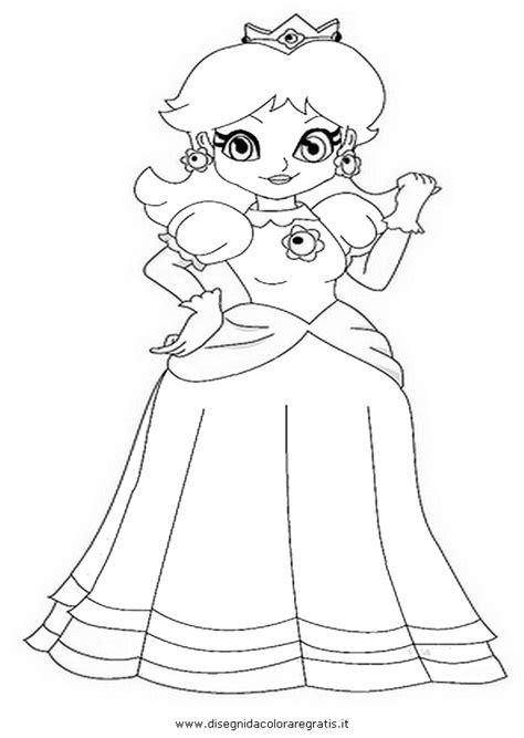 disegno daisymario personaggio cartone animato da colorare