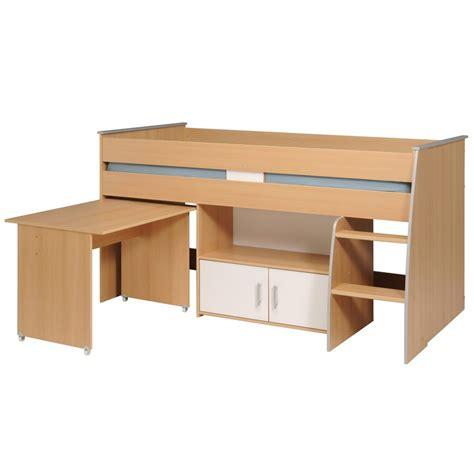 lit combiné avec bureau lit combiné avec bureau quot gabriel quot 90x200cm marron
