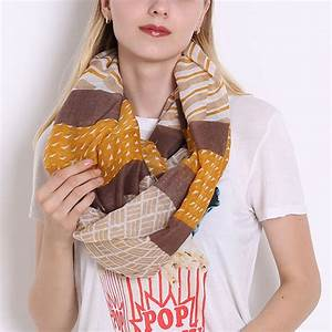 Fashion 1 pcs Infinity Scarf Womens Zigzag Wave Loop Scarf ...