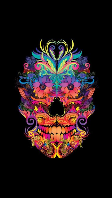 Instant Download Abstract Mexican Sugar Skull Art