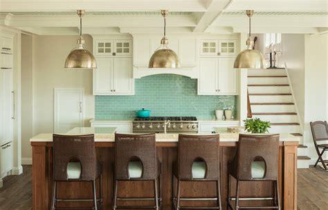 Turquoise Subway Tiles Transitional Kitchen Js Interiors