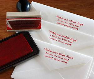 diy hand stamp your return address letterpress wedding With wedding invitations where to put return address