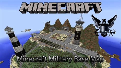 Minecraft Amazing Military Base Map Download Youtube