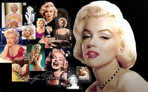 Widescreen wallpaper, Marilyn Monroe collage