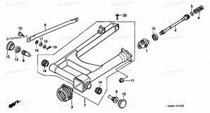 Honda Motorcycle 2000 Oem Parts Diagram For Swingarm