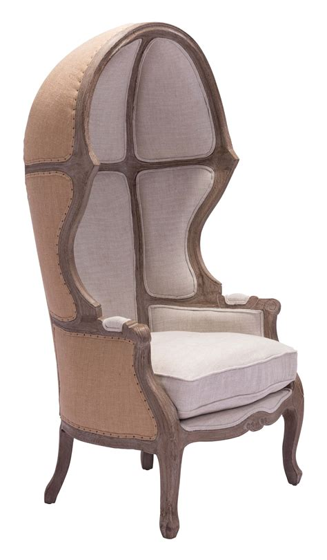 Chair : Ellis Solid Oak Wood Trim Occasional Chair Beige By Zuo