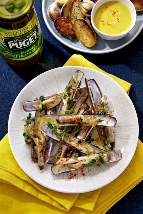 couteaux en persillade et pommes de terre a l ail puget fr