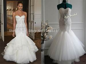 lace mermaid wedding dress sexy off the shoulder With wedding dress with ruffles on bottom