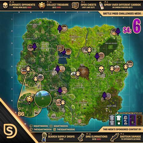 cheat sheet map  fortnite battle royale season  week