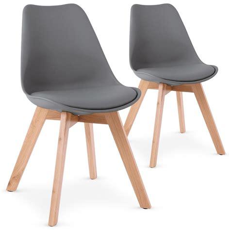 chaise de jardin grise chaise grise style scandinave spak lestendances fr