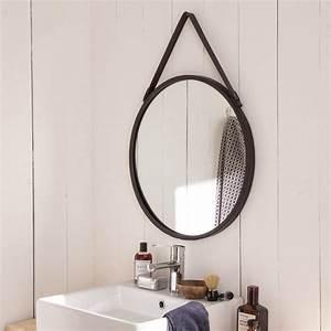 Miroir Barbier, noir, l 53 x H 53 cm Leroy Merlin