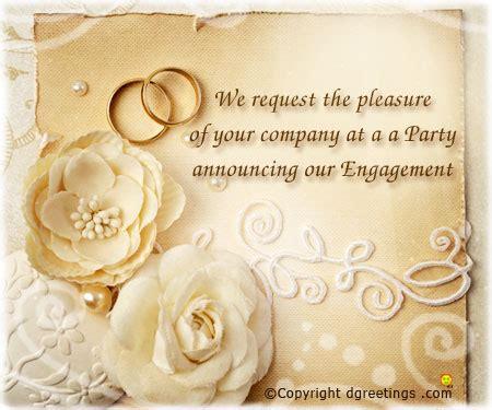 engagement invitation card