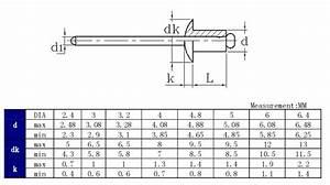 Aluminum Rivet Size Chart Din7337 Blind Rivets