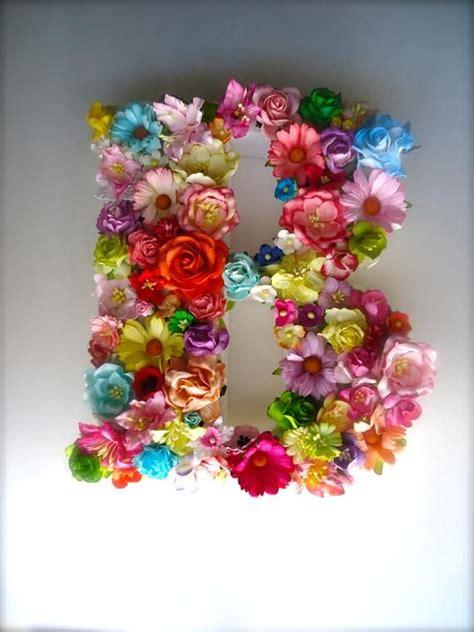 custom floral letter monogram paper flower initial