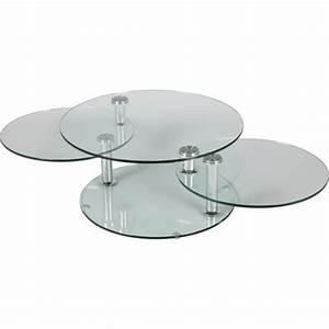 Table Basse Ronde Verre : table basse ronde en verre 3 plateaux achat vente table basse table basse ronde en verre ~ Teatrodelosmanantiales.com Idées de Décoration
