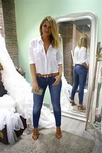 Outfit Jean Y Camisa Blanca