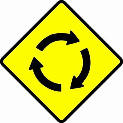 Roundabout Clip Caution Vector 41kb Drawing Graphic
