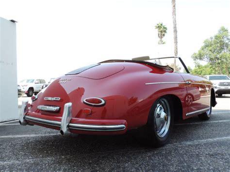 convertible porsche red 1959 porsche 356 convertible d ruby red with tan restored