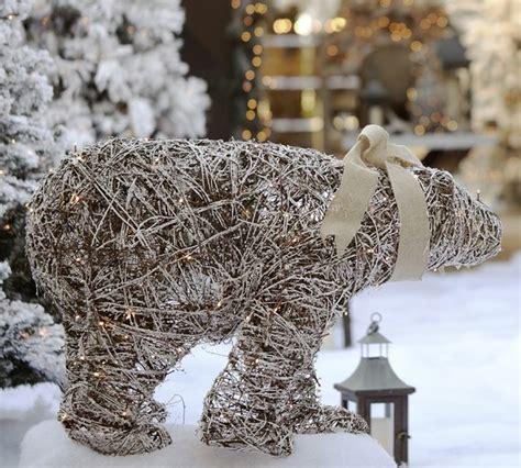 lit twig polar bear contemporary outdoor holiday