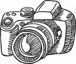 Hand-drawn vector sketch of a generic Digital Camera ...