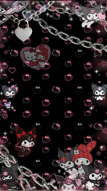 Kuromi Aesthetic Goth Wallpapers Kitty Hello Sanrio