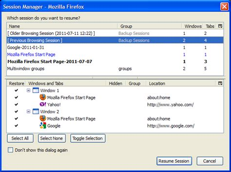 Firefox Addon Manager Resume by Session Manager Add Ons For Firefox