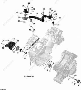 Can-am Atv 2016 Oem Parts Diagram For Engine Cooling