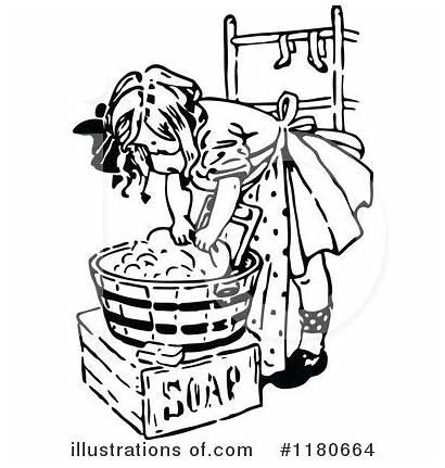 Clipart Laundry Retro Illustration Royalty Prawny Rf