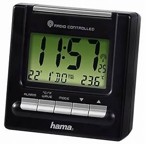 Radio Controlled Uhr Bedienungsanleitung : hama reise funk wecker rc200 thermometer hintergrundbeleuchtung zwei weckzeiten automatische ~ Watch28wear.com Haus und Dekorationen