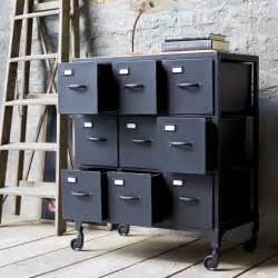 Armoire Metal Industriel Occasion by Metal Chest Of Drawers Industrial Style Chest Of 9