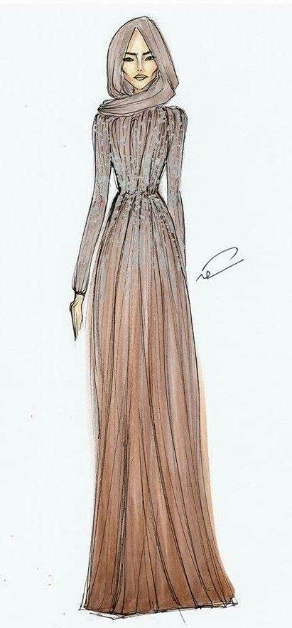 hijab illustration images  pinterest fashion