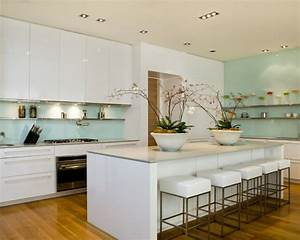 The latest trends in kitchens 2018 2019 home decor trends for Kitchen cabinet trends 2018 combined with tempered glass wall art