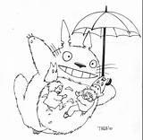 Romper Kleurplaat Coloring Totoro Teknik Izim sketch template