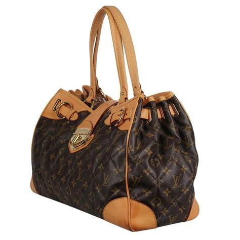 louis vuitton shopper etoile quilted gm  brown monogram canvas  calfskin shoulder bag