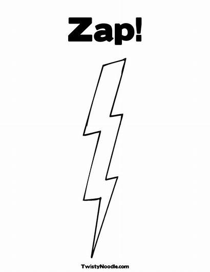 Lightning Bolt Coloring Clipart Pages Flash Zap