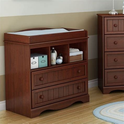 south shore savannah changing table south shore savannah changing table in royal cherry 3546330