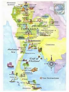 Detailed tourist map of Thailand. Thailand detailed ...
