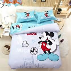 fashion mickey mouse cotton full queen size bedding sets